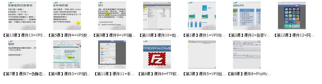新手快速学会VPS服务器系列教程共13课